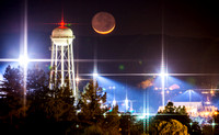 UC Davis Moonset