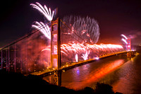 SF Golden Gate 75th anniversary fireworks